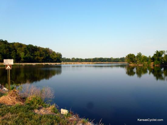 Miami State Fishing Lake - Entrance - This the view from the entrance road to Miami State Fishing Lake. Camping ahead!