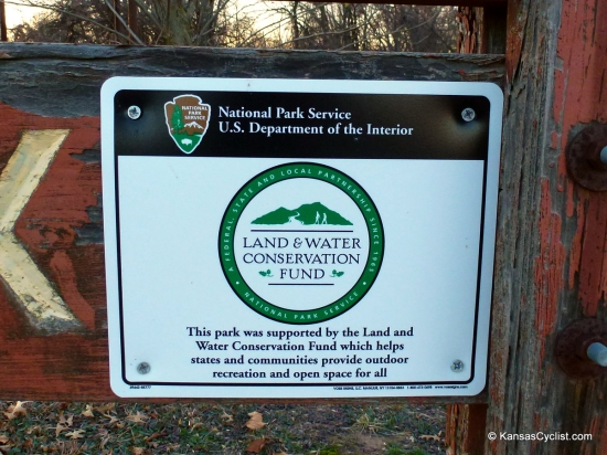 Old Route 66 Park - National Parks Sign - This sign designates Old Route 66 Park to be administered by the National Park Service, and supported by the Land and Water Conservation Fund, which provides