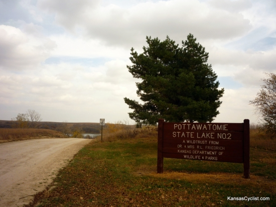 Pottawatomie State Fishing Lake No. 2 - Entrance Sign - This is the entrance sign for Pottawatomie State Fishing Lake No. 2, located just a few miles northeast of Manhattan, Kansas. The lake is located in a beautiful and rugged section of the northern Flint Hills.