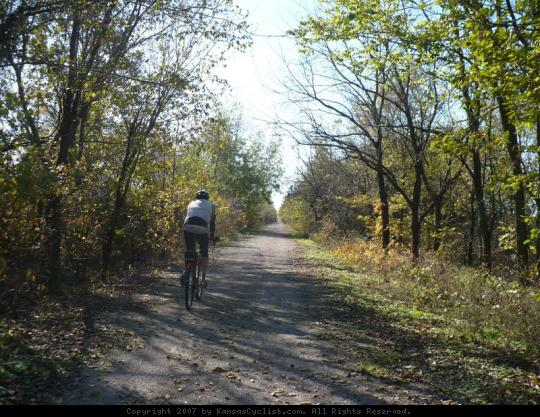 Prairie Spirit Trail 2007 - Riding on the Prairie Spirit Trail in late October.