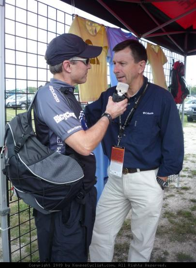Interviewing Paul Sherwen - Edward Eroe interviewing legendary cycling commentator Paul Sherwen for the Kansas Cyclist Podcast.