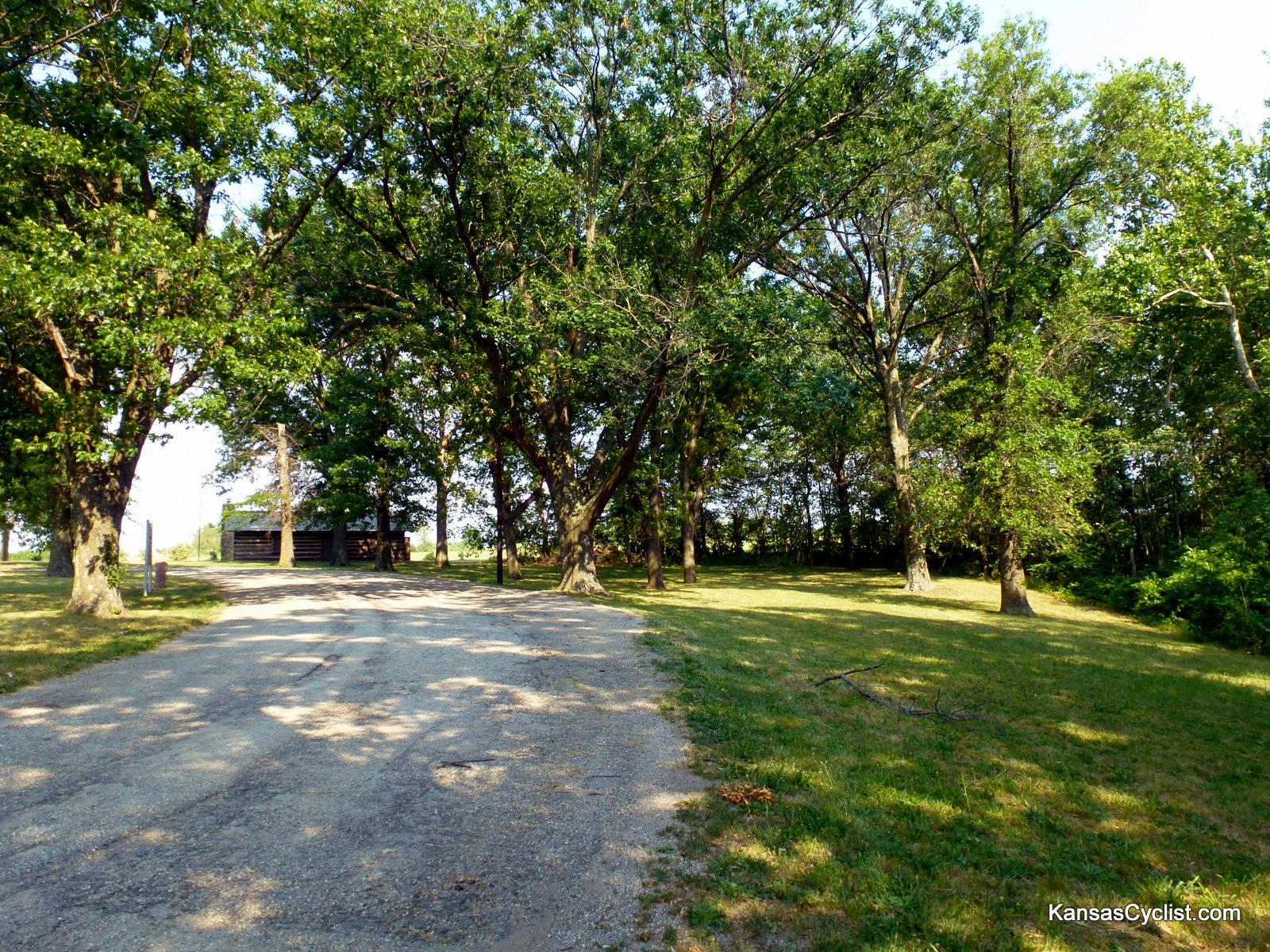 Us 56 Baldwin City Roadside Park Kansas Cyclist Photo