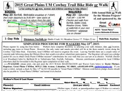 Cowboy Trail Bike Ride/Walk for UMM Missions