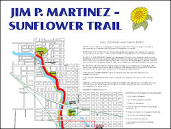 Jim P. Martinez Sunflower Trail