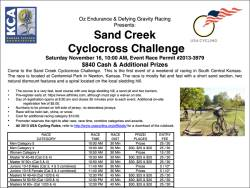 Sand Creek Cyclocross Challenge