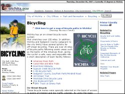 Wichita Bicycle Paths
