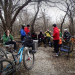 Started the new year out right with a ride on the Badger Creek Mountain Bike Trails with members of the Kansas Singletrack Society