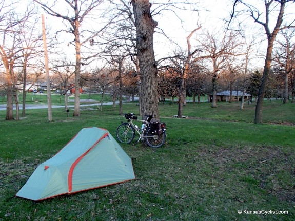 Bike Camping at John Brown Park