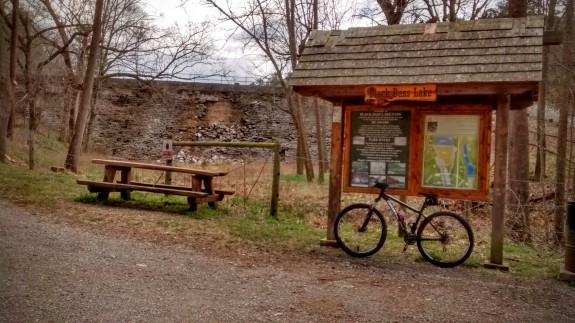 Entrance kiosk at Black Bass Lake.