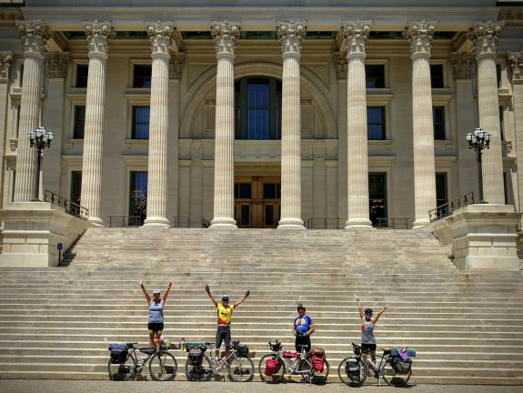 We biked to the capital!