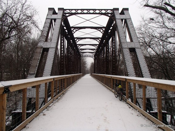 Elm Creek Bridge Snow