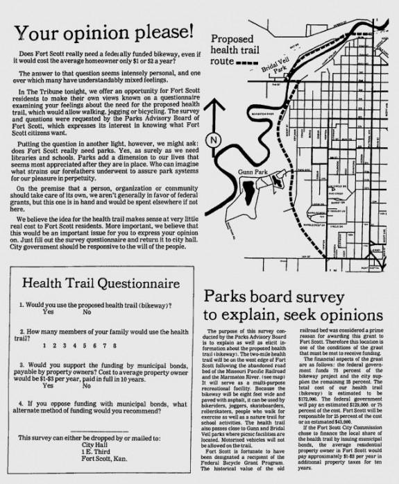 Fort Scott Bikeway Survey