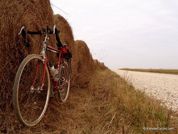 Gravel Biking, Hay Bales