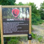 Gunn Park Trails Sign