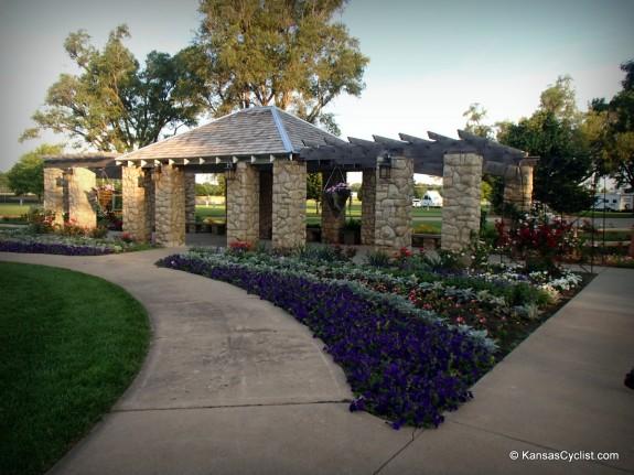 Abilene's Eisenhower Park has a beautiful community flower garden.