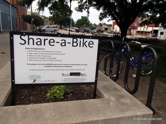 A glimpse of the Share-a-bike program in Abilene.
