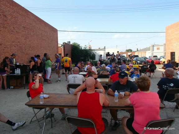 Beer garden at Hays street party
