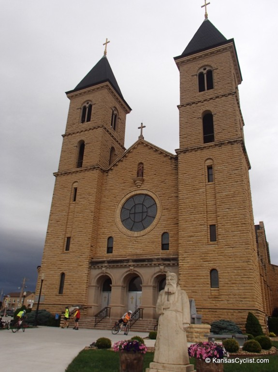 """The magnificent St. Fidelis Catholic Church (the Cathedral of the Plains"""") in Victoria, Kansas"""