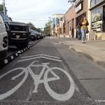Kansas's First Protected Bike Lane