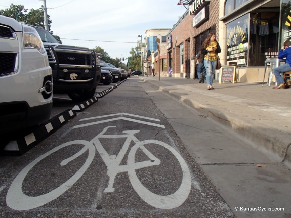Kansas's First Protected Bike Lane