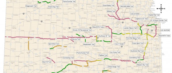 Kansas Rails-to-Trails Map 2016