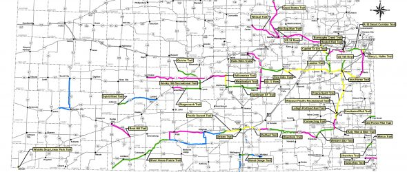 Kansas Rails-to-Trails Map 2019