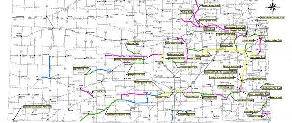 Kansas Rails-to-Trails Map 2019