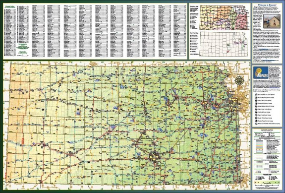 2014-2015 Kansas Bicycle Map, Page 1