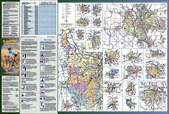 2014-2015 Kansas Bicycle Map, Page 2