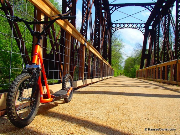 Kick-Biking on the Southwind Rail Trail