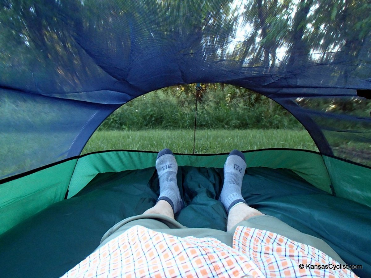 LawsonHammock-BivyInside & Blue Ridge Camping Hammock Review | Kansas Cyclist News