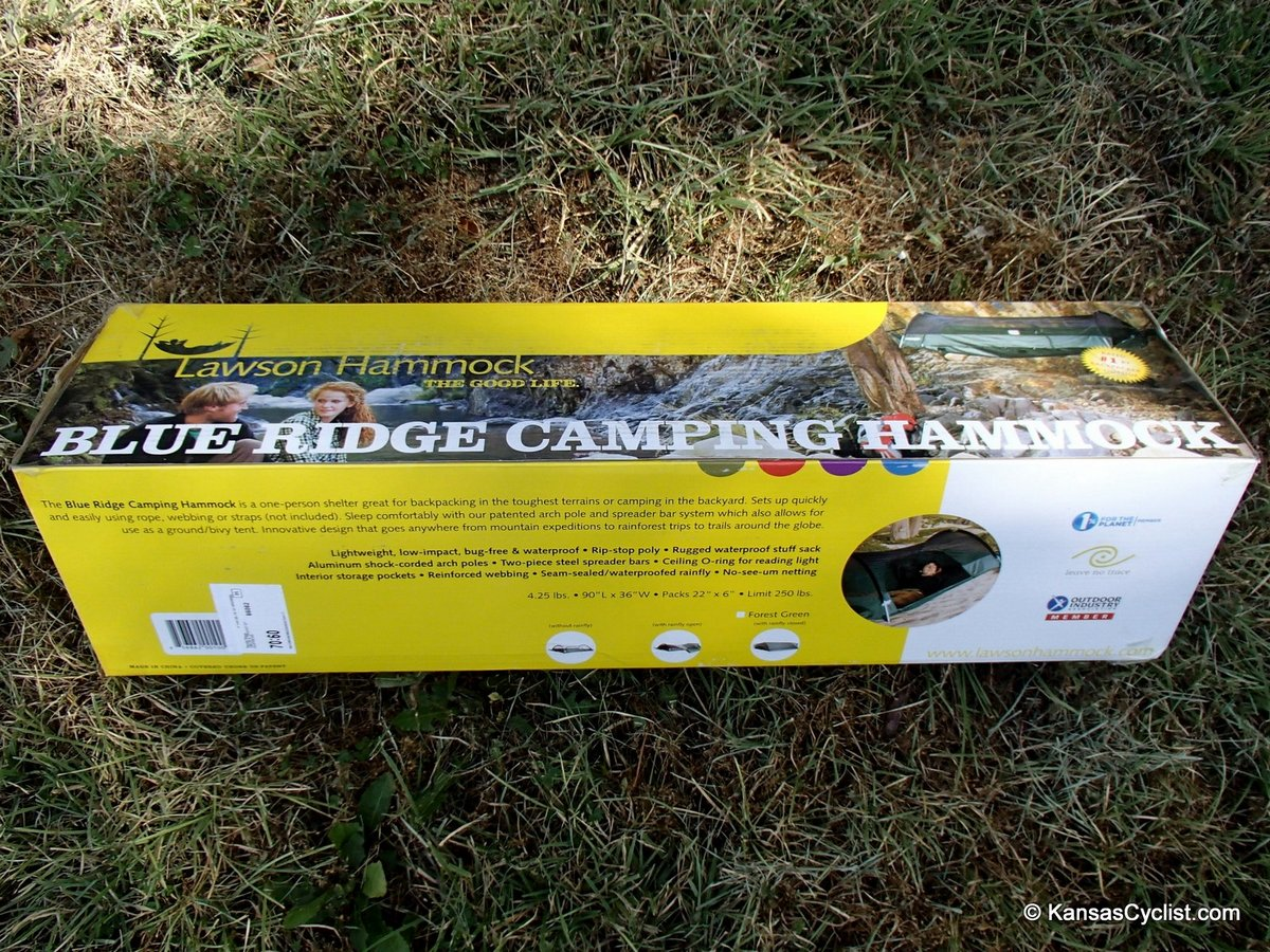 unboxing the blue ridge camping hammock blue ridge camping hammock review   kansas cyclist news  rh   kansascyclist