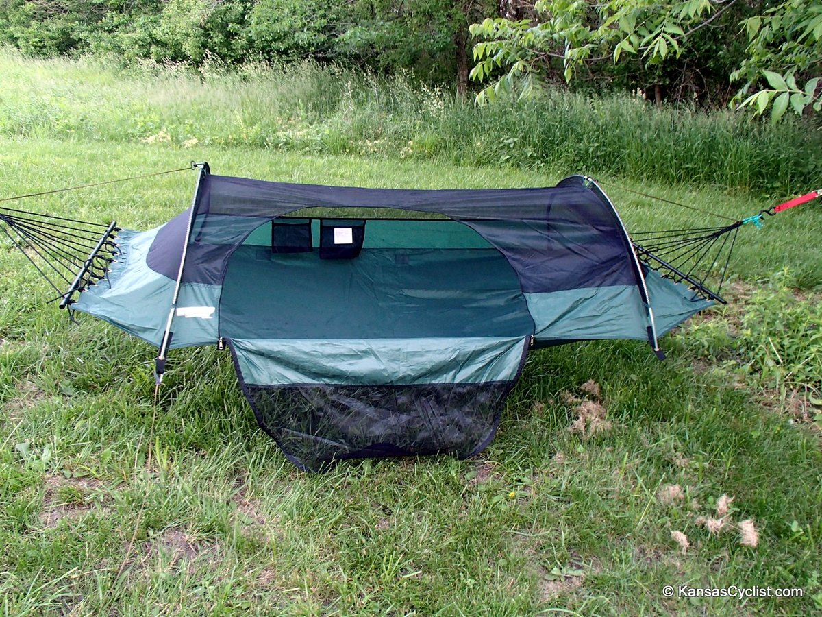 lawsonhammock initialsetup blue ridge camping hammock review   kansas cyclist news  rh   kansascyclist