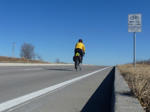 MO-150 Bicyclist Using Full Lane