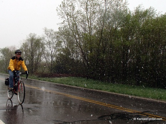 May Snow Bicycling