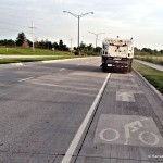 Olathe Bike Lane Sweeper