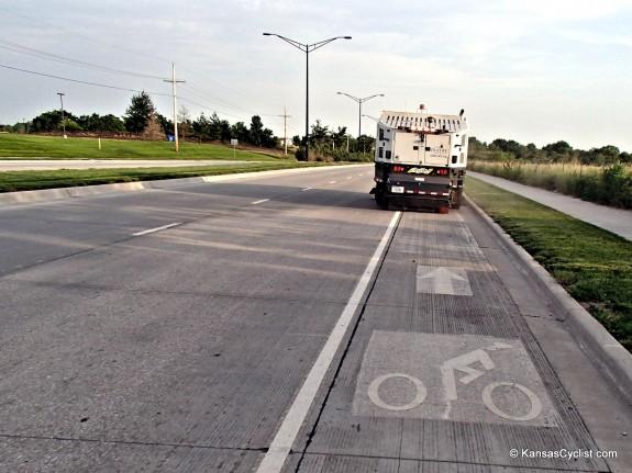 Olathe Bike Lane Sweeper