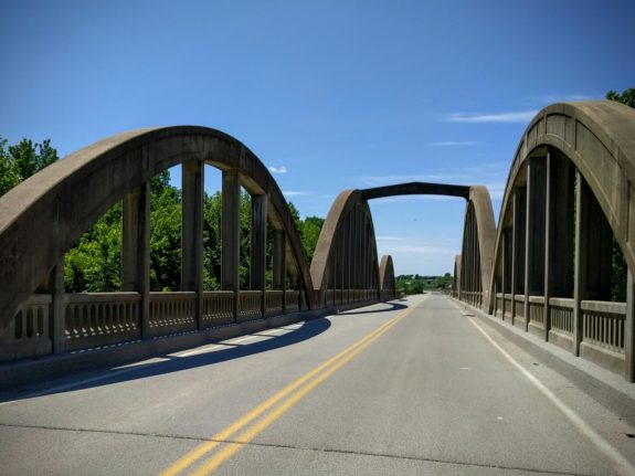 Rainbow Arch bridge over Pottawatomie Creek, Osawatomie