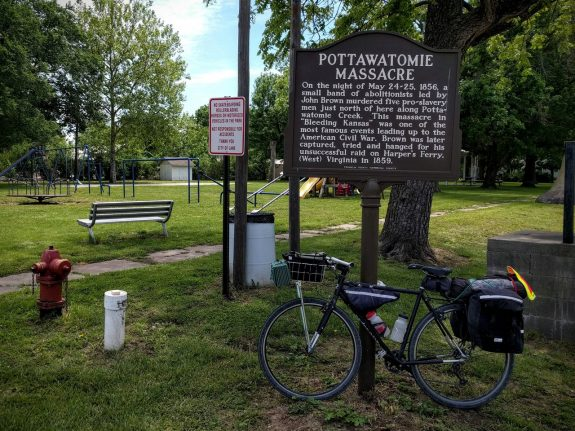 Pottawatomie Massacre Sign, Lane