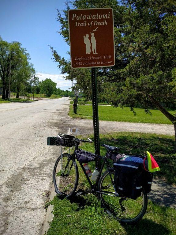 Pottawatomie Trail of Death Sign, Osawatomie