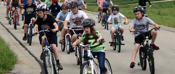Paola Sunflower Elementary Bike Month Ride