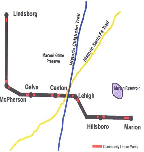 Central Kansas Trails Map