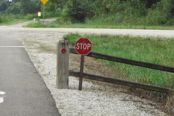 You've been warned... Bicyclists ticketed $195 for ignoring RRVT stop signs