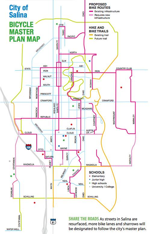 Salina Bike Route Map 2015