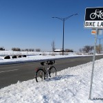 Snow-Covered Bike Lane
