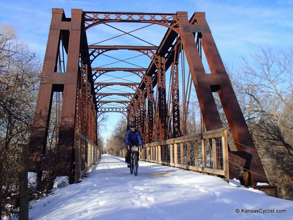Snow riding on the Southwind Rail Trail