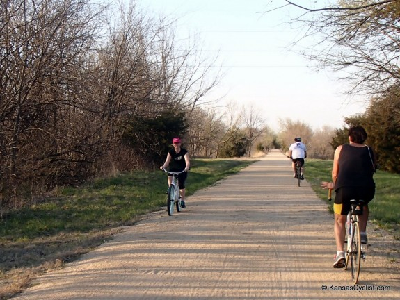 Bicyclists on the Southwind Rail Trail