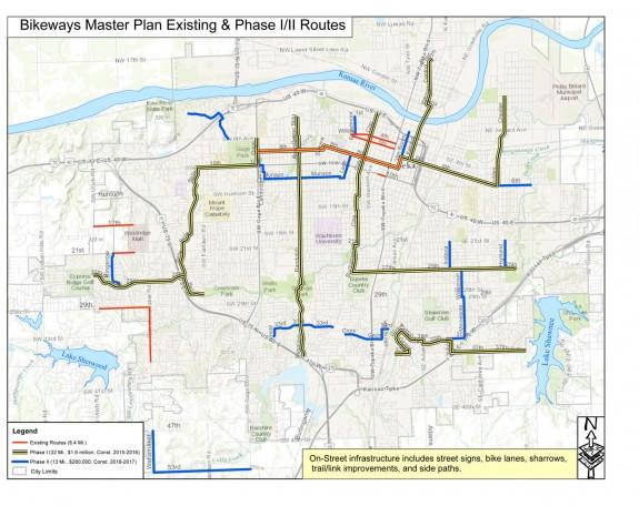 Topeka Bike Routes Phases 1 & 2