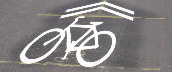 First Sharrows Installed In Wichita
