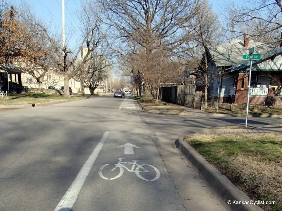 Wichita 1st St Bike Lane